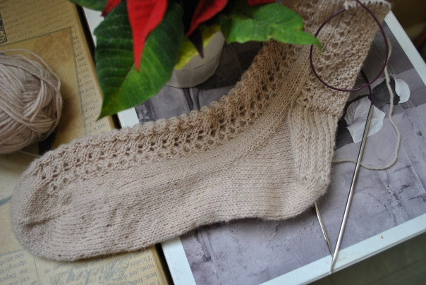 chaussettes beiges