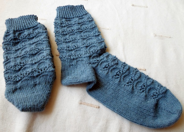 Chaussettes gentianes toes-up